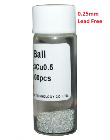 Solder Balls 0.25mm, Lead...